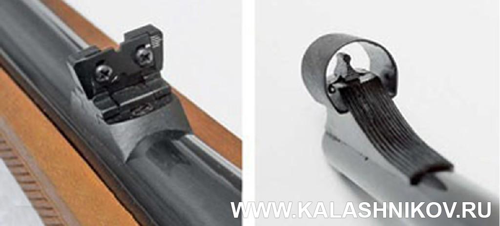 Прицельные приспособления карабина ТК598 калибра 9,6/53 Lancaster. Фото из журнала «Калашников»