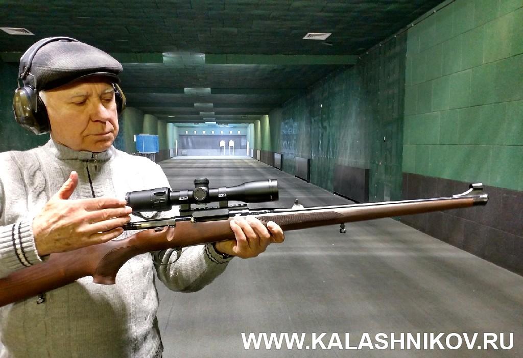 Карабин Zastаva M70 FS (.308 Win.) в руках Римантаса Норейки. Фото из журнала «Калашников»