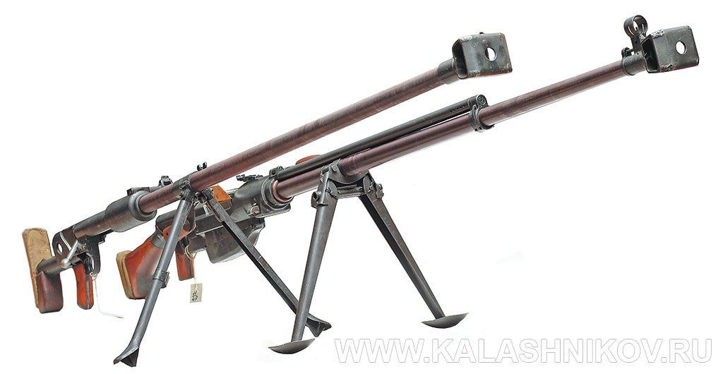 14,5-мм противотанковые ружья Дегтярёва (ПТРД) и Симонова (ПТРС). Фото журнала «Калашников»