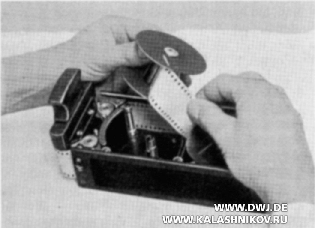 Кинопулемёт Zeiss МВК 1000. Зарядка кассеты