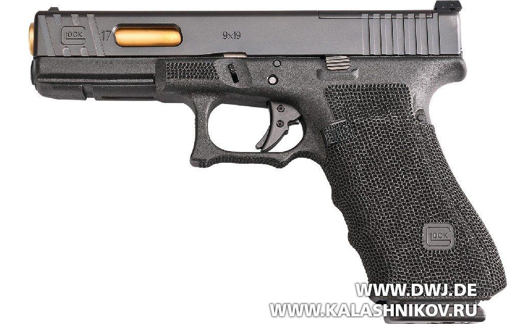 Пистолет Glock 17 Gen4 MOS. Вид слева