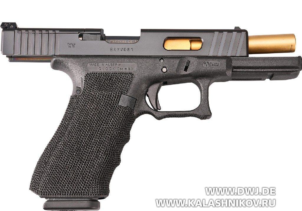 Пистолет The Duke Glock 17 Gen4 MOS на затворной задержке