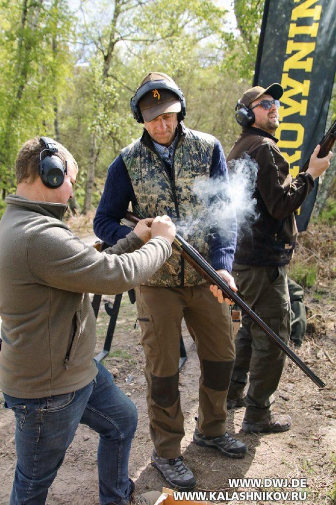 Стрельба из бокфлинтов Browning в французкой Солони