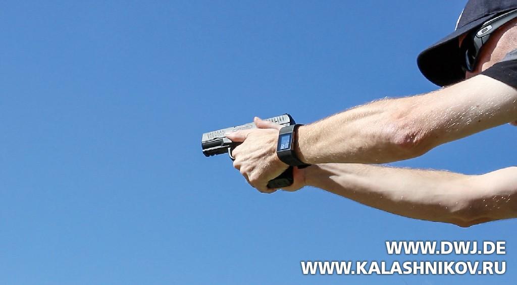 Стрельба из пистолета Walther Creed. Журнал Калашников