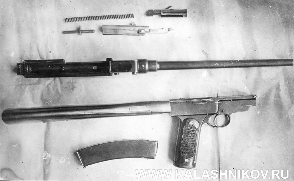 Пистолет-пулемёт Колесникова, разборка для чистки. Журнал Калашников