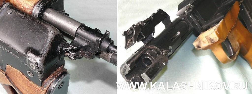 Казённая часть ствола, узел соединения половин винтовки и запирающая муфта снайперской винтовки ТКБ-0145С. Журнал Калашников
