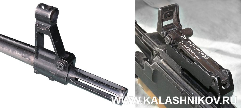 Дульная часть винтовки и механический прицел ТКБ-0145С. Журнал Калашников