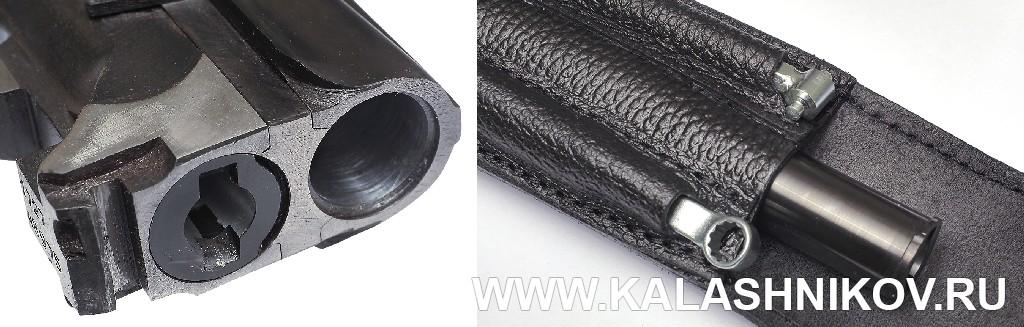 Установленный вкладной ствол ТК 600 и ключ извлекателя в чехле. Журнал Калашников