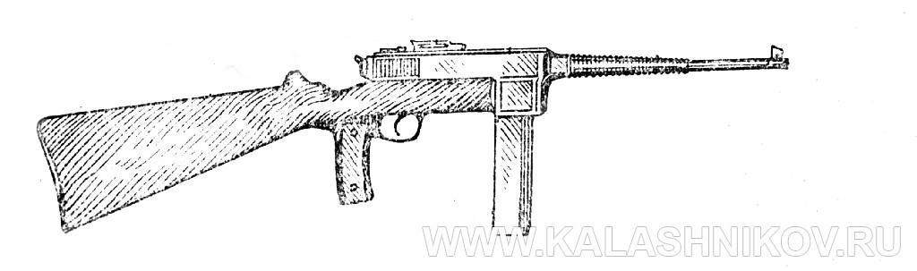 пистолет-пулемёт Дегтярёва, рисунок. Журнал Калашников