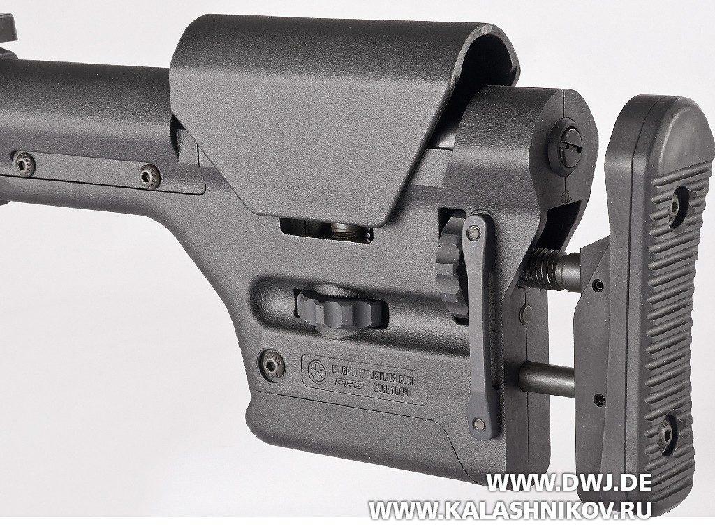 Винтовка SIG 716 DMR. Плечевой упор Magpul PRS