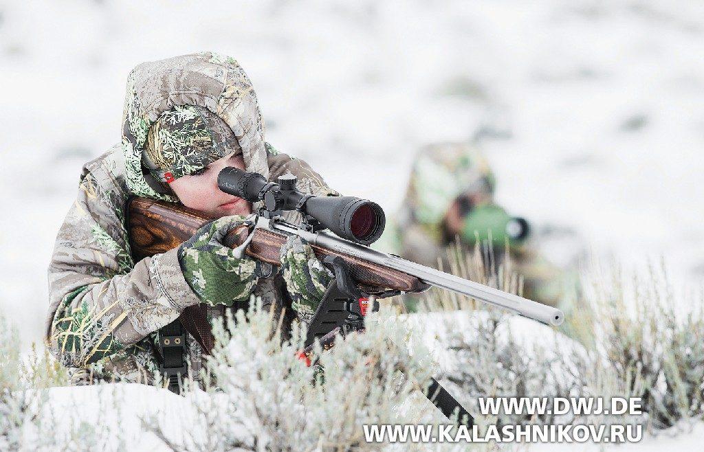 Зимняя охота с винтовкой