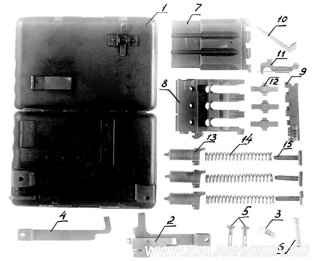 Полная разборка пистолета-портсигара ТКБ-506А И.Я. Стечкина. Журнал Калашников