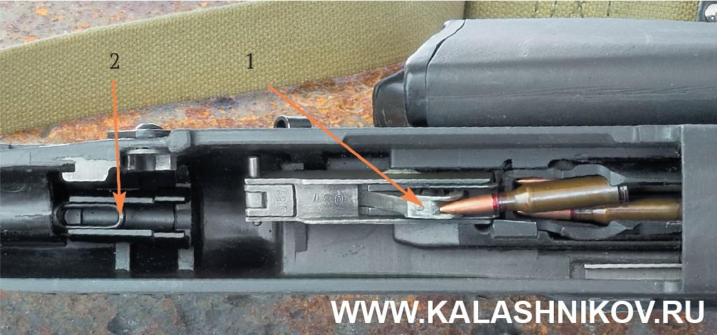 Кожух автомата АН-94 Абакан со снятым стреляющим агрегатом. Журнал Калашников, фото Михаила Дегтярёва