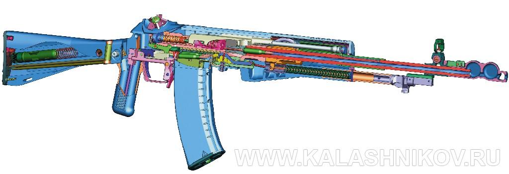 Схема устройства АН-94 (Абакан). Журнал Калашников