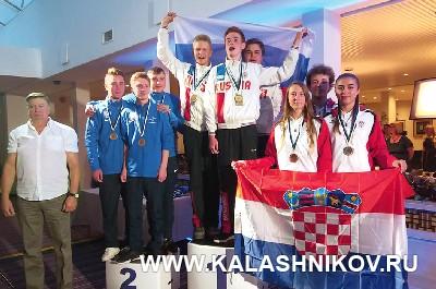 Команда юношей — победитель Первенства Европы по стрельбе из полевого арбалета. Журнал Калашников