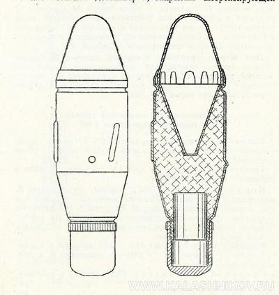 Схема противотанковой гранаты ВПГ-1. Журнал Калашников