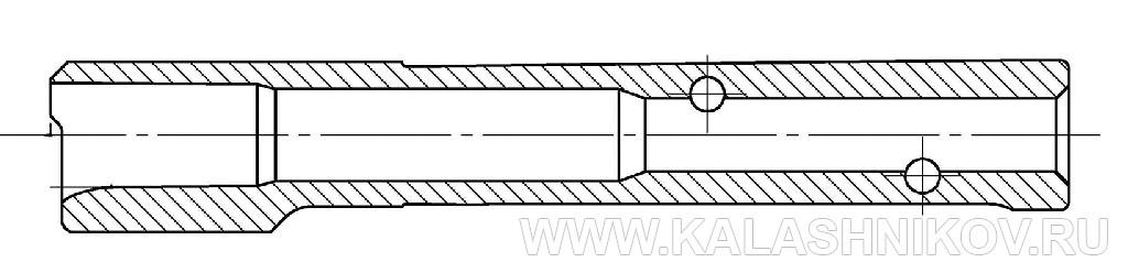 Чертеж ствола пистолета Grand power T15. Журнал Калашников