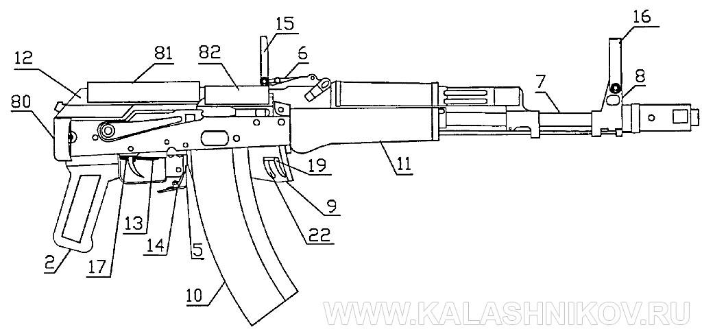 АК74МБ: буллпап – «невидимка» со сложенным прикладом. Журнал Калашников