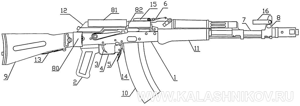 АК74МБ: буллпап – «невидимка», общий вид. Журнал Калашников
