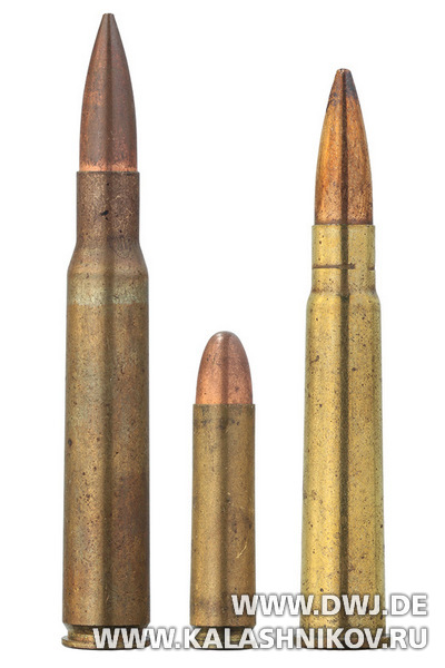 Патроны U.S. .30 M2 Ball, .30 Carbine M1 Ball, .303 ® British Mark VII Ball.. Журнал Калашников. DWJ