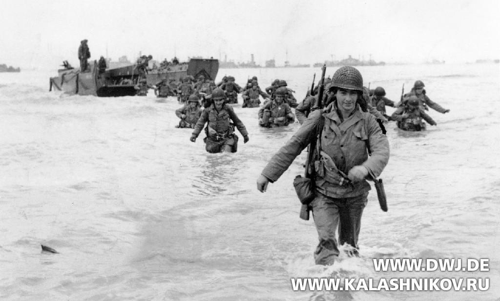 Высадка в Нормандии с винтовками Garand . Журнал Калашников. DWJ