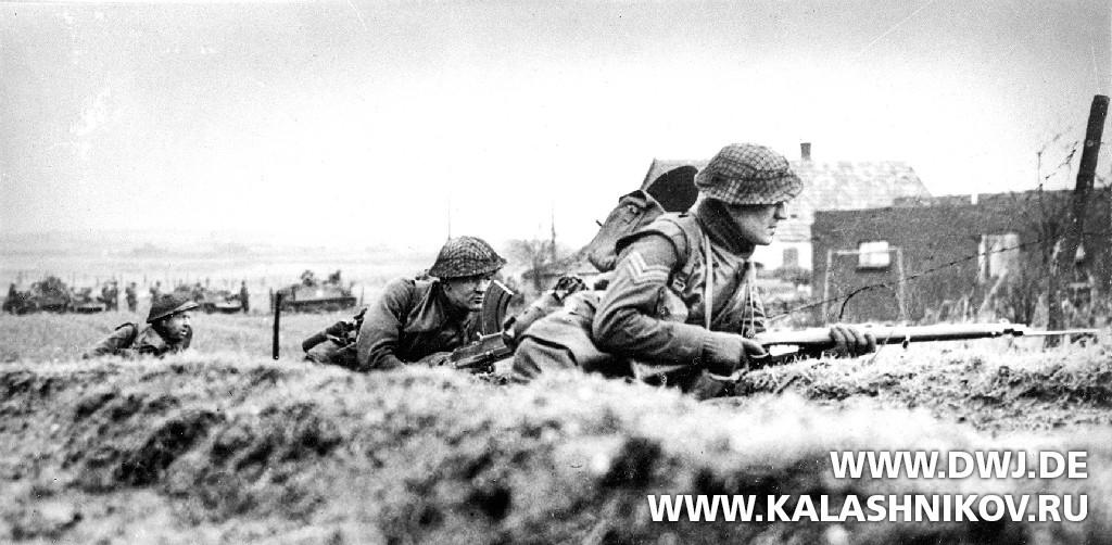 Британская пехота в1944г.свинтовками Lee Enfield Rifle No.4. Журнал Калашников. DWJ