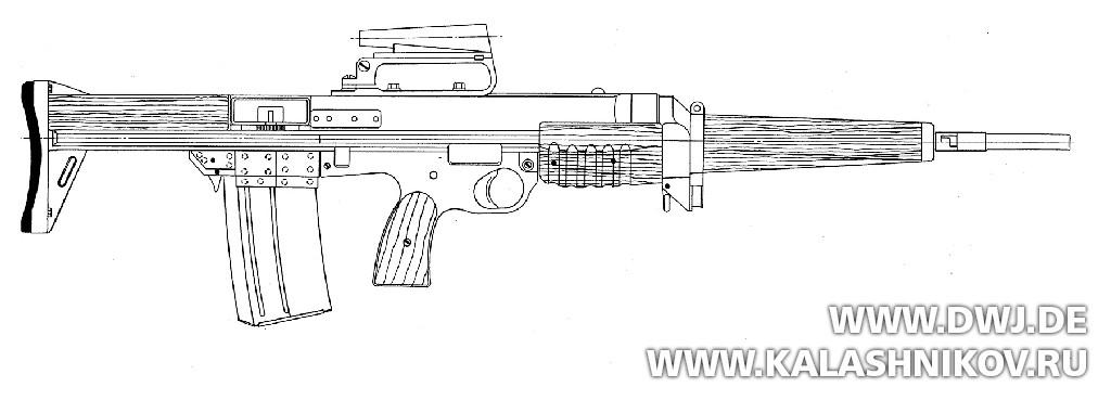 Британский прототип ЕМ2 Bullpup Rifle. Журнал Калашников. DWJ