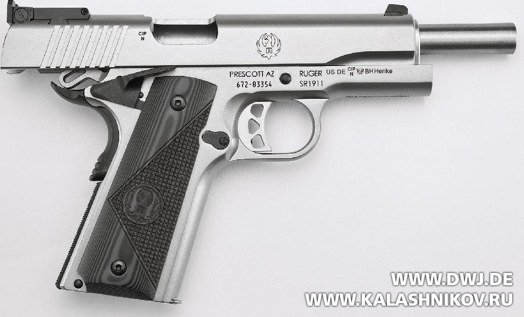 Ruger SR1911 Target, дульная часть. Журнал Калашников