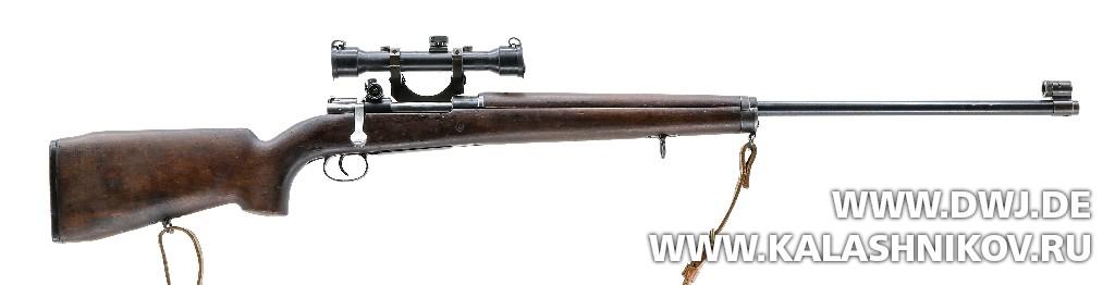 Правая сторона снайперской винтовки Mauser М 96. Журнал Калашников. DWJ