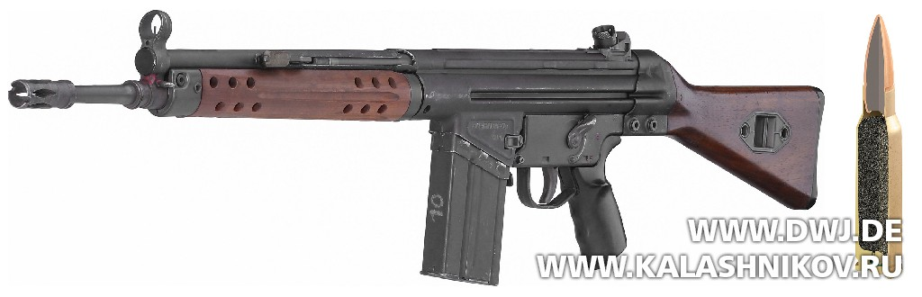 Винтовка G3A2 и немецкий патрон DM 41 Weichkern (Ball). Журнал Калашников
