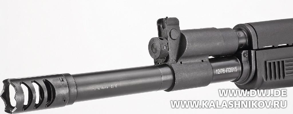 Дульная насадка DM AK-12 Tactical. Взломщик дверей. Журнал Калашников. DWJ