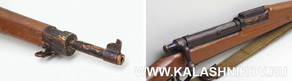 Имитатор ствола и средняя часть тренировочной винтовки Parris-Dunn модели Victory. Журнал Калашников