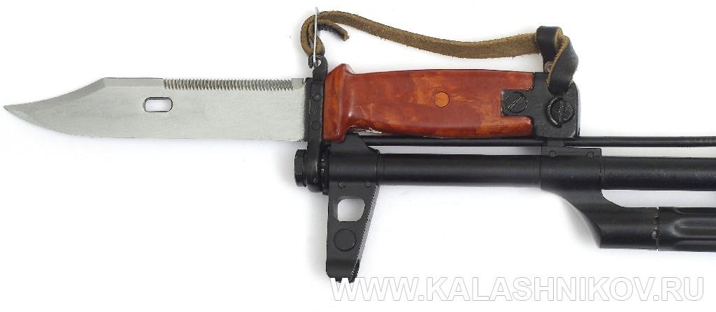 Штык-нож 6Х4 на автомате Калашникова. Журнал Калашников