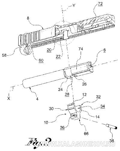 Схема 1 из патентной документации пистолета Strike One. Журнал Калашников