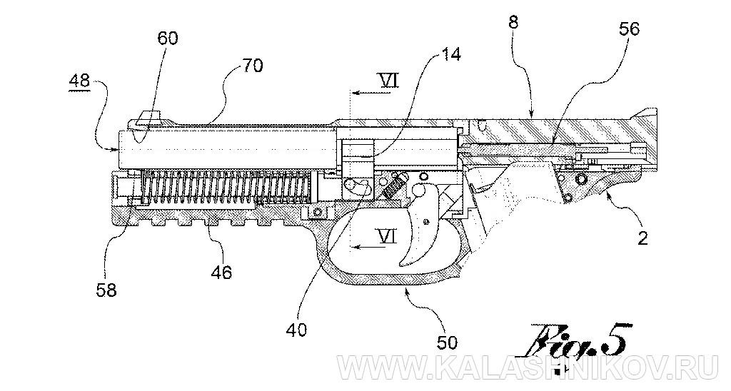 Схема 3 из патентной документации пистолета Strike One. Журнал Калашников