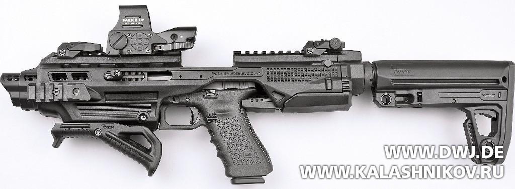 Прицел Falke L.E., пистолет  Glock 17 Gen4 SD  и набор IMI-Kidon. DWJ. Журнал Калашников
