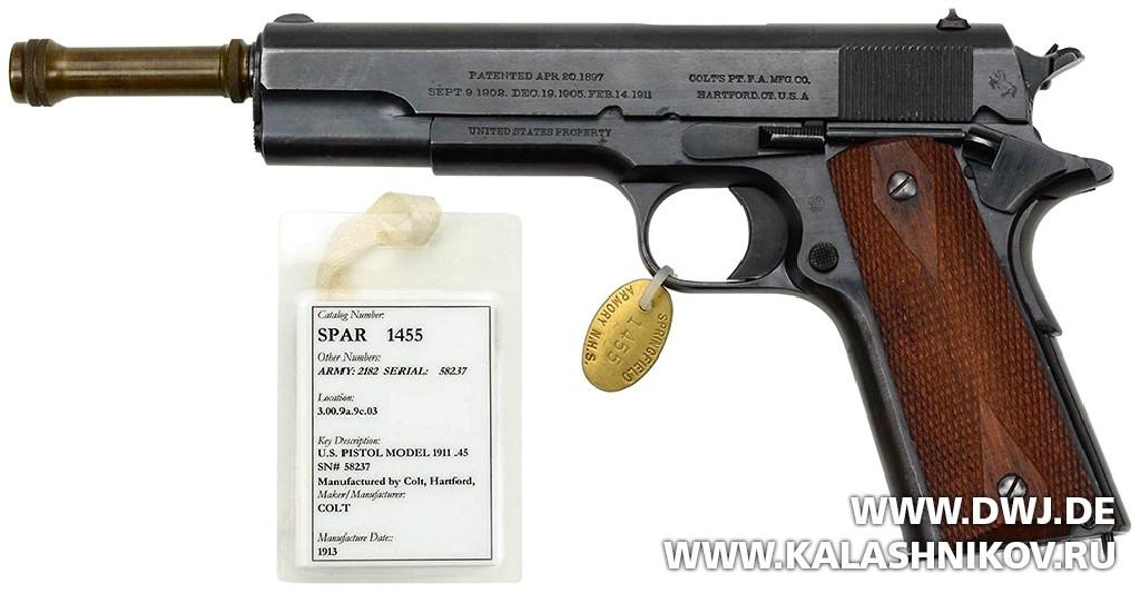 Экспериментальный пистолет Colt M1911.  Журнал Калашников. DWJ