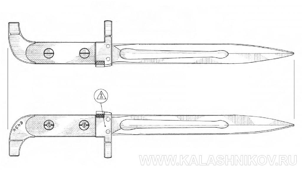 Штык 6Х2 для автомата Калашникова. Журнал Калашников