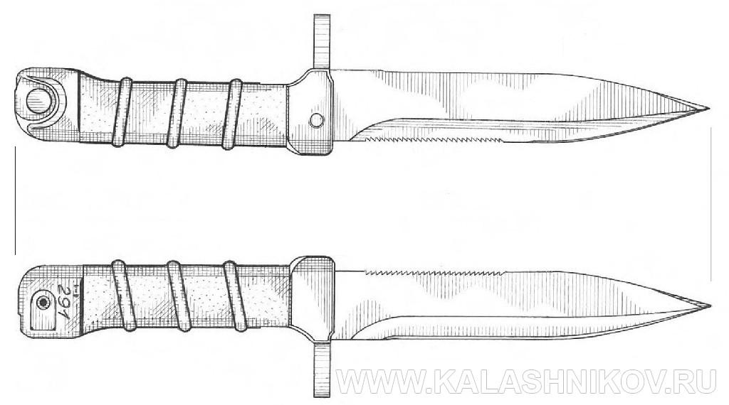 Штык-нож 6Х5, вариант 1 для автомата Калашникова. Журнал Калашников