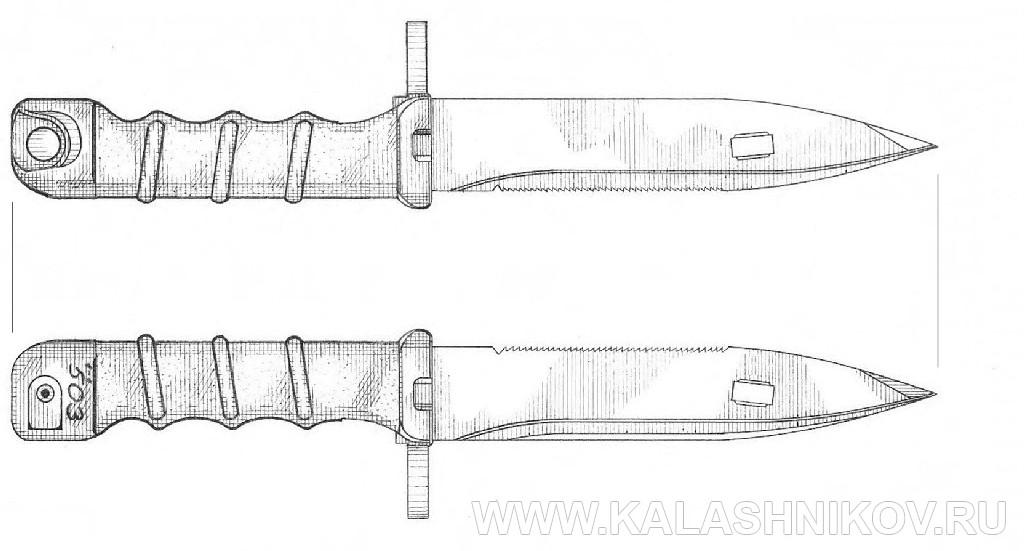 Штык-нож 6Х5, вариант 2 для автомата Калашникова. Журнал Калашников
