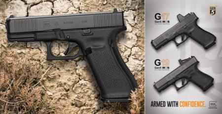 Glock 45, Glock 17 Gen5 MOS, Glock 19 Gen5 MOS