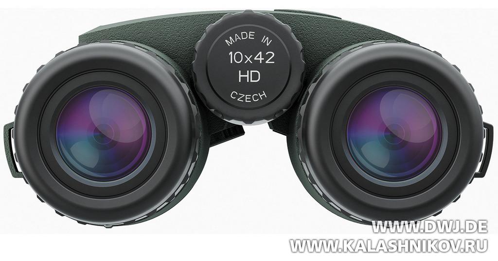 Meorange 10x42 HD Basic. Вид спереди. Журнал Калашников. DWJ