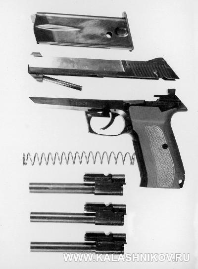7,62/9-мм пистолет «Грач-1». Неполная разборка. Журнал Калашников
