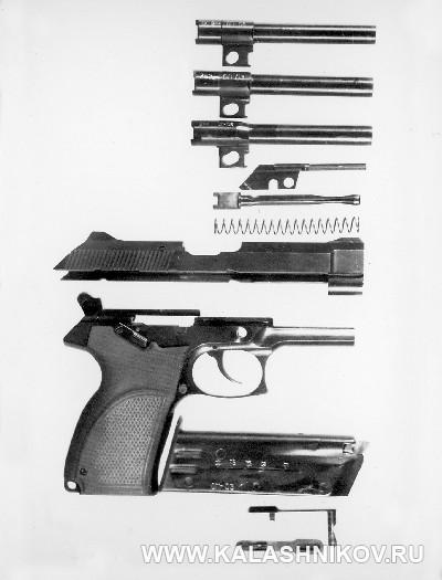 7,62/9-мм пистолет «Грач-2». Неполная разборка. Журнал Калашников