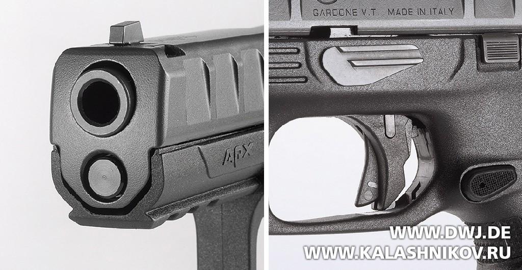 Пистолет Beretta APX. Мушка и предохранитель. Журнал Калашников. DWJ
