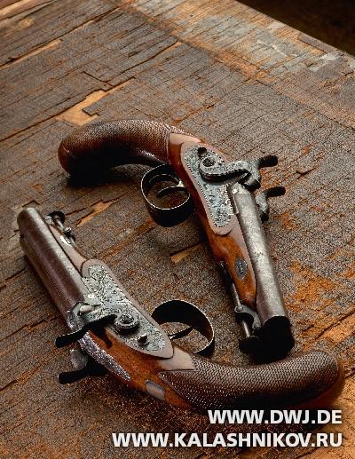 Пара двуствольных капсюльных пистолетов компании Westley Richards. Журнал Калашников. DWJ