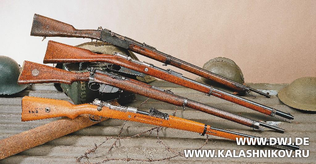 винтовка Лебеля, немецкая винтовка Gewehr 88, британская Ли-Энфильд и винтовка Gewehr 98.. Журнал Калашников. DWJ