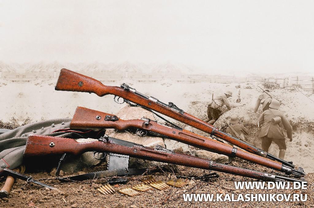 Gewehr 98, Karabiner 98 и послевоенный образец Karabiner 98. Журнал Калашников. DWJ