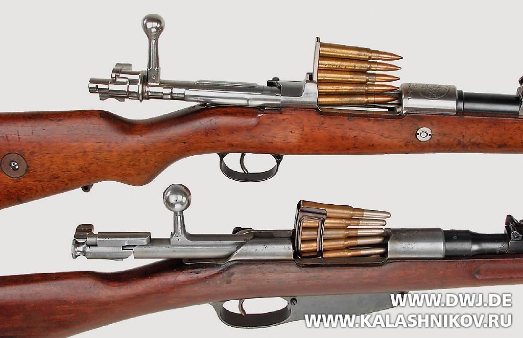Обойма Mauser 98 и пачка Mannlicher M1895. Журнал Калашников. DWJ