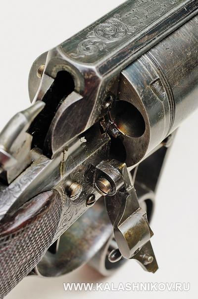 Револьверная винтовка Lambert Ghaye, вид на казенную часть. Журнал Калашников